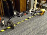 POULAN PRO WEEDEATER; GAS POWERED YELLOW AND BLACK 31CC HIGH OUTPUT WEEDEATER/TRIMMER. MODEL