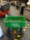 SCOTTS LAWN SPREADER; MODEL SPEEDY GREEN 3000. IN GOOD CONDITION AND READY FOR YOUR LANDSCAPING