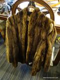 FUR COAT; MADE BY JOSEPH SPIGEL INC. ROANOKE, VA. HAS SOME MINOR SEPARATION BUT CAN BE FIXED. IS A