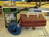 LOT OF ASSORTED HOME ITEMS; 3 PIECE LOT TO INCLUDE A SPRAY DOC 1/2 GALLON STANDARD SPRAYER, A BLUE