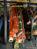 LOT OF ASSORTED WRAPPING PAPER; THIS LOT CONTAINS 15 ROLLS OF WRAPPING PAPER. ALL OF IT IS HOLIDAY