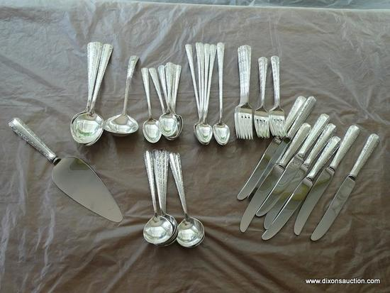 (DR) STERLING FLATWARE BAG LOT; TOWLE STERLING CANDLELIGHT PIECES, TOTAL OF 52 PIECES INCLUDING