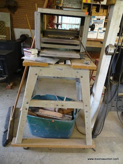 (WSHOP) RYOBI PLANER; 12-5/16 IN PRECISION SURFACE PLANER. MODEL AP-12. IS IN GOOD USED CONDITION!