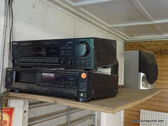 (WSHOP) STEREO LOT; INCLUDES A SONY AUDIO/VIDEO CONTROL CENTER (MODEL STR-D565), A SONY COMPACT DISC
