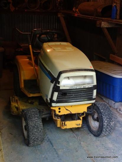 (OUT) CUB CADET LAWN TRACTOR; RIDING MOWER WITH 42 IN CUT. IS IN GOOD USED CONDITION AND READY FOR A
