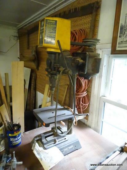 (WSHOP) ROCKWELL 11 IN DRILL PRESS; MODEL 11-100. MANUFACTURED IN THE 1980'S AND IS IN GOOD USED