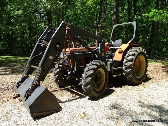 TRACTOR; ZETOR MODEL Z 7745 SERIAL NO. 031633 TRACTOR WITH ZETOR MODEL 590 FRONT END LOADER WITH
