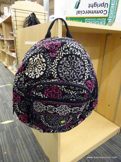 (R6B) VERA BRADLEY BACKPACK; THIS PERFECT SIZE BACKPACK IS IN THE CANTERBERRY MAGENTA PATTERN, HAS A