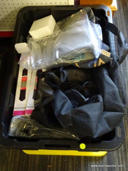 MYSTERY TUB LOT; INCLUDES MULTIPLE INK CARTRIDGES FOR LEXMARK PRINTERS, A BEST BEACH TOWEL/BLANKET,