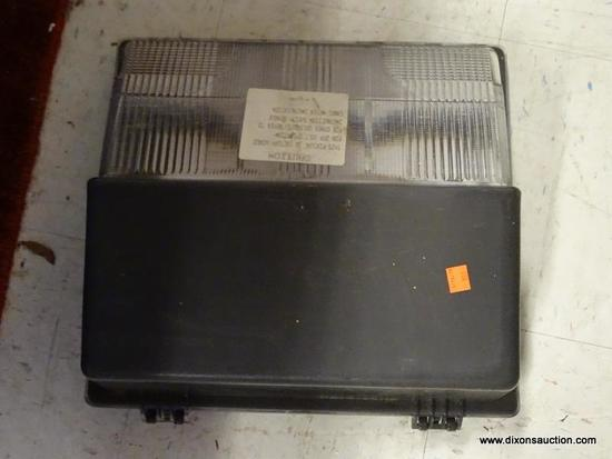 LIGHT FIXTURE; FACTORY WIRED LIGHT FOR 277 VOLT OPERATION. CASE IS GREY IN COLOR, UNIT MEASURES 16