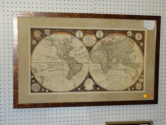 FRAMED THOMAS KITCHEN ANTIQUE MAP; THIS PRINT IS OF AN ANTIQUE MAP FROM 1799 BY THOMAS KITCHEN. THIS