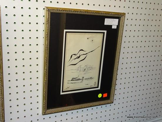 "SALVADOR DALI ""FANTASTIC MEMORIES"" FRAMED PRINT; THIS FIRST EDITION COPY IS FROM ""FANTASTIC"