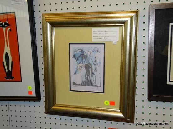 "SALVADOR DALI ""DALINEAN HORSE"" FRAMED PRINT; THIS IS A LIMITED EDITION COPY OF ""DALINEAN HORSE"""