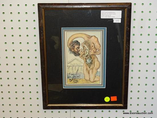 "SALVADOR DALI ""MICHEL DE MONTAIGE"" FRAMED PRINT; THIS FIRST EDITION COPY IS ""OF VANITY"" FROM THE"