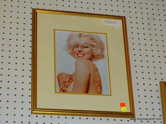 "FRAMED MARILYN MONROE PRINT; THIS PRINT OF MARILYN MONROE ""NECKLACE"" IS ONE OF A COLLECTION OF"