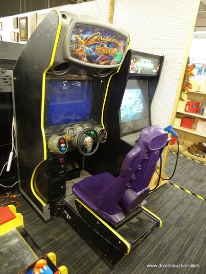 """NINTENDO MIDWAY """"CRUIS'N EXOTICA"""" ARCADE DRIVING GAME; MODEL IS CRUIS'N EXOTICA 27- USA DBV RDY,"""