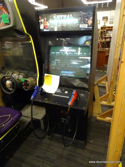 """KONAMI """"LETHAL ENFORCER"""" ARCADE SHOOTING GAME; GAME WORKS GREAT, ALL INNER WORKINGS ARE COMPLETE AND"""