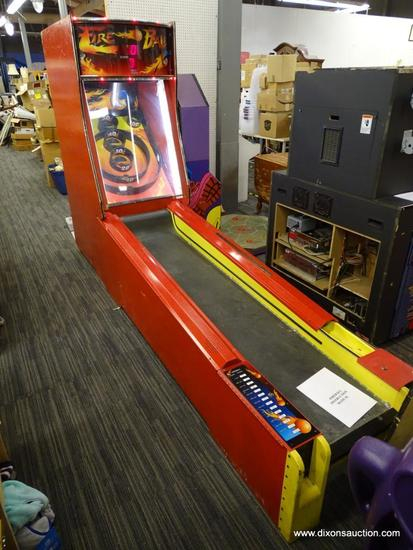 """""""FIRE BALL"""" ARCADE-STYLE SKEEBALL GAME; WHO HASN'T ALWAYS WANTED THEIR OWN SKEE-BALL GAME AT HOME?"""
