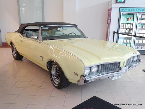 1969 OLDSMOBILE CUTLASS S CONVERTIBLE. ENGINE: ORIGINAL OLDS 350 WITH REBUILT QUADRAJET AND FACTORY