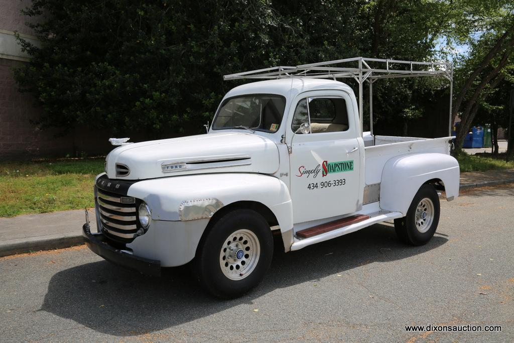 1949 FORD F1 PICKUP TRUCK. THIS 1949 FORD F-1 PICKUP TRUCK HAS A 8 CYLINDER, ROCHESTER CARBURETOR