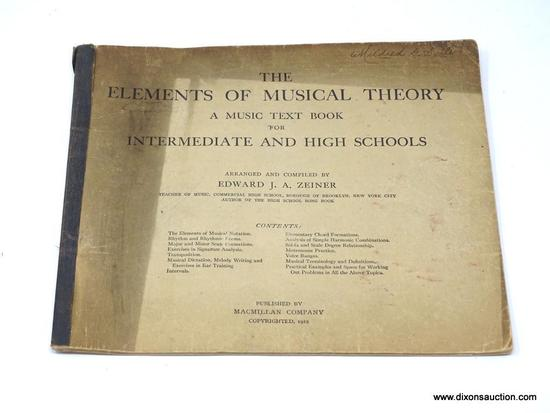 (SC) ANTIQUE BOOK; THE ELEMENTS OF MUSICAL THEORY A MUSIC TEXT BOOK FOR INTERMEDIATE AND HIGH