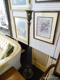 FLOOR LAMP; ANTIQUE FLOOR LAMP WITH REEDED COLUMN BODY AND URN STYLE BASE. MEASURES 65 IN TALL