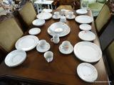 6 PIECE PLACE SETTING OF CARLTON CHINA; INCLUDES 6 DINNER PLATES WITH 2 EXTRA, 6 DESSERT PLATES WITH