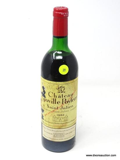 1982 CHATEAU LEOVILLE POYFERRE SAINT-JULIEN; THIS RED BORDEAUX WINE OFFERS BALANCED , AGE-WORTHY
