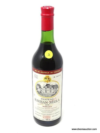 1979 CHATEAU RAUZAN-SEGLA MARGAUX; THIS BORDEAUX MARGAUX TENDS TO BE DEEP RUBY IN COLOR, PERFUMED