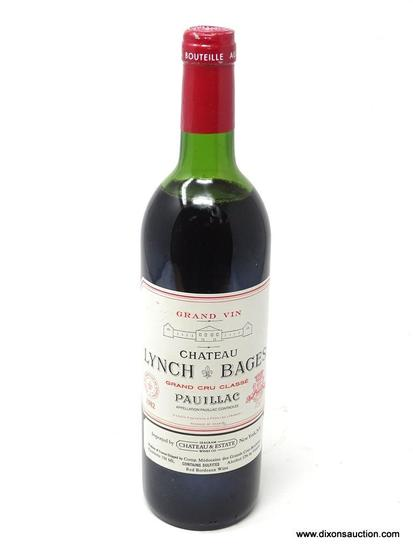 1982 CHATEAU LYNCH-BAGES PAUILLAC; THIS BORDEAUX PAUILLAC IS A RICH AND CONCENTRATED, FULL-BODIED