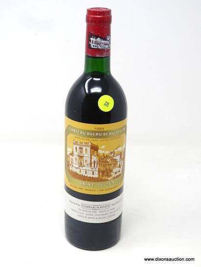 1985 CHATEAU DUCRU-BEAUCAILLOU SAINT-JULIEN; THIS RED BORDEAUX OFFERS BALANCED, AGE-WORTHY BLENDS OF