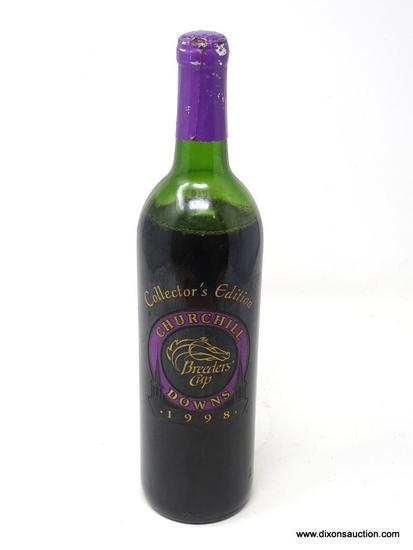 """1998 """"OFFICIAL"""" BREEDERS' CUP CHURCHILL DOWNS MERLOT; THIS WINE 1997 CALIFORNIA MERLOT WAS"""