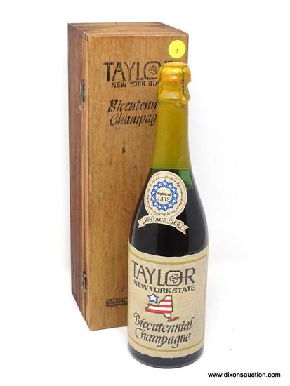 1966 TAYLOR NEW YORK STATE BICENTENNIAL CHAMPAGNE; THIS CHAMPAGNE WAS PRODUCED WHOLLY FROM THE