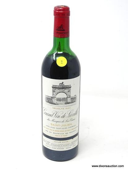 1984 GRAND VIN DE LEOVILLE DU MARQUIS DE LA CASES SAINT-JULIEN; THIS RED BORDEAUX WINE OFFERS