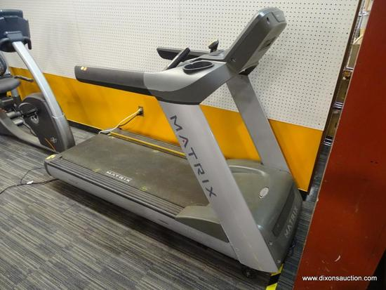 "MATRIX T7XE TREADMILL; DECK TYPE: ULTIMATE HARD-WAX REVERSIBLE 1"" DECK, BELT TYPE: HABASIT, 2 - PLY"
