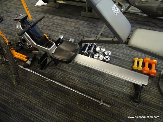 STAMINA ROWING MACHINE; ROWING MACHINE CAN BE UTILIZED FOR YOUR LEG, ARM, AND AB WORKOUT. HOME ROWER