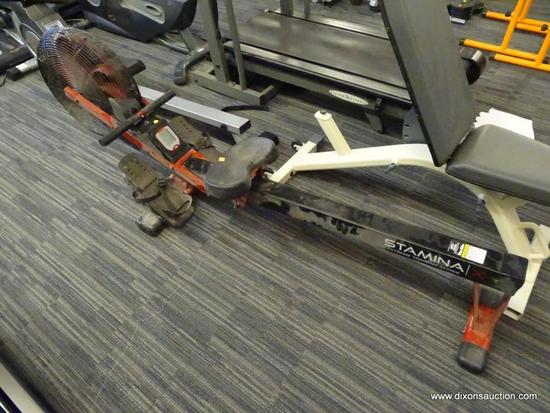 STAMINA ROWING MACHINE; FROM THE EXTREME TRAINING SERIES AND CAN BE UTILIZED FOR YOUR LEG, ARM, AND