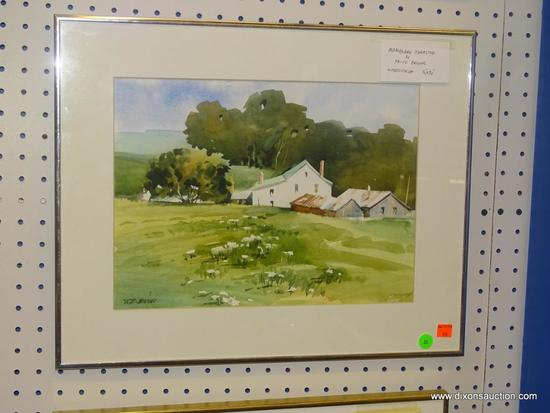 """ORIGINAL FRITZ BRIGGS WATERCOLOR; """"MARYLAND FARMSTEAD"""" WATERCOLOR PAINTING SHOWING A FARMHOUSE AND"""