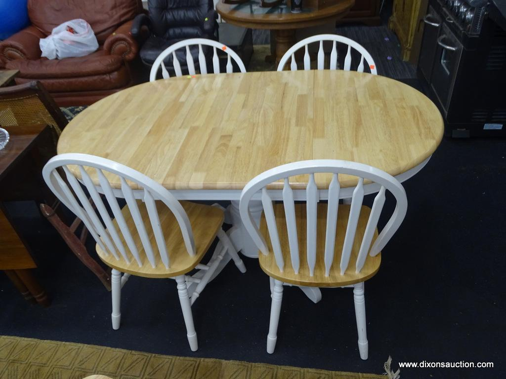 GATE LEG WOODEN KITCHEN TABLE & CHAIRS; TO INCLUDE FOUR ...