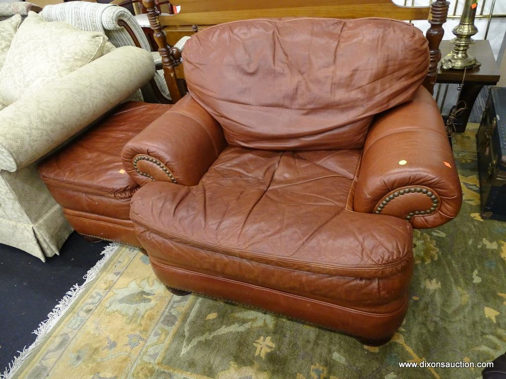 Tremendous Lot Broyhill Brown Leather Chair A Half Includes Spiritservingveterans Wood Chair Design Ideas Spiritservingveteransorg