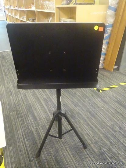 ON-STAGE STANDS CONDUCTOR STAND; FEATURES A TRIPOD FOLDING BASE, ADJUSTABLE MUSIC STAND WITH LARGE