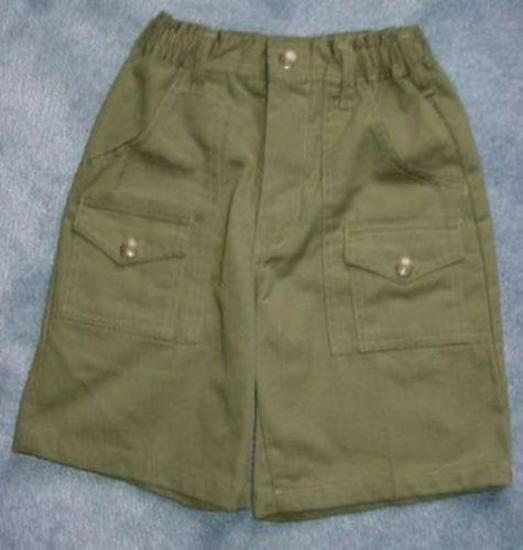 BSA Boy Scouts Troop Green Twill Shorts Size 8 Waist 24 Nice pair of Boy Scouts of America Troop