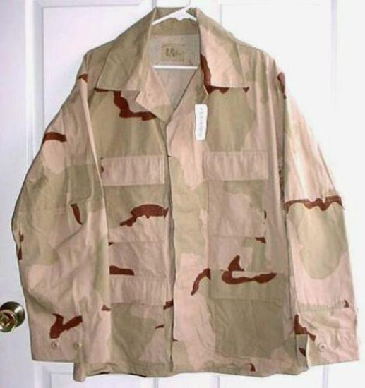 NWT Military US Army Desert Camo Combat Coat Large USA MADE, where quality never goes out of style!
