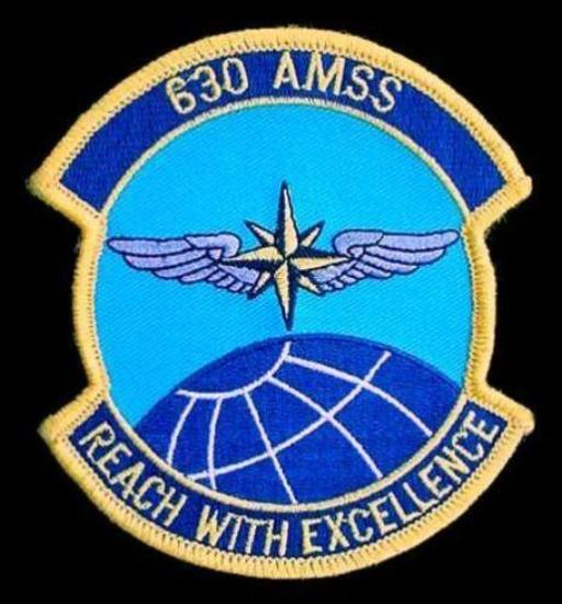 US Air Force 630th Air Mobility Support Squadron Patch Nice cloth embroidered patch for the US Air