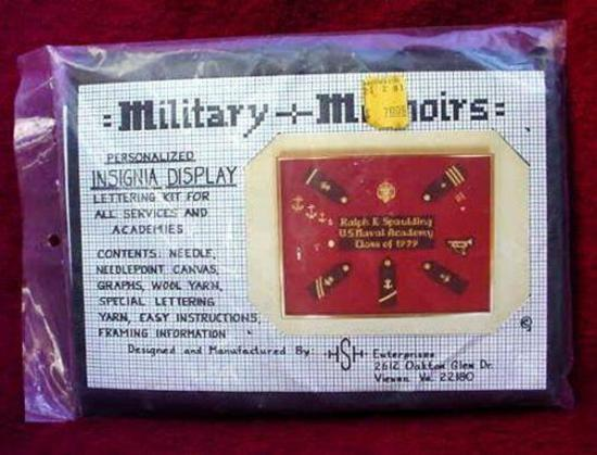 MILITARY PERSONALIZED INSIGNIA DISPLAY LETTERING KIT BRAND NEW-OLD STOCK-NEVER OPENED-