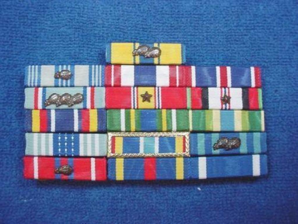 Bandschnalle Bandspange USA Air Force Achievement Medal Ribbon Bar