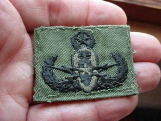 5 US Military Master EOD Explosive Ordnance Disposal BDU Uniform Patch US Armed Forces Master EOD