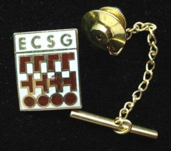 ECSG IICIT Deluxe Enamel Tie Pin Electronic Connector Institute Nice ECGS enamel tie pin and chained