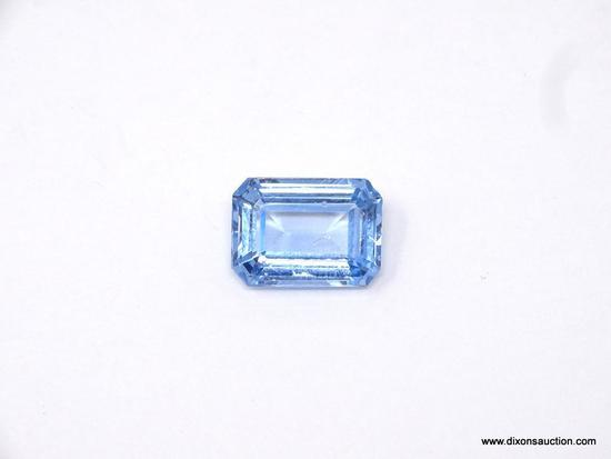 18.25 CARAT SKY BLUE TOPAZ EMERALD CUT; HUGE AND BEAUTIFUL 18.25 CARAT SKY BLUE TOPAZ. GREAT EMERALD