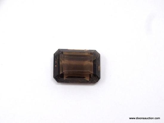 21.4 CARAT SMOKY TOPAZ VERY FINE; STUNNING 21.4 CT SMOKY TOPAZ. EXTREMELY FINE GEM QUALITY IN A